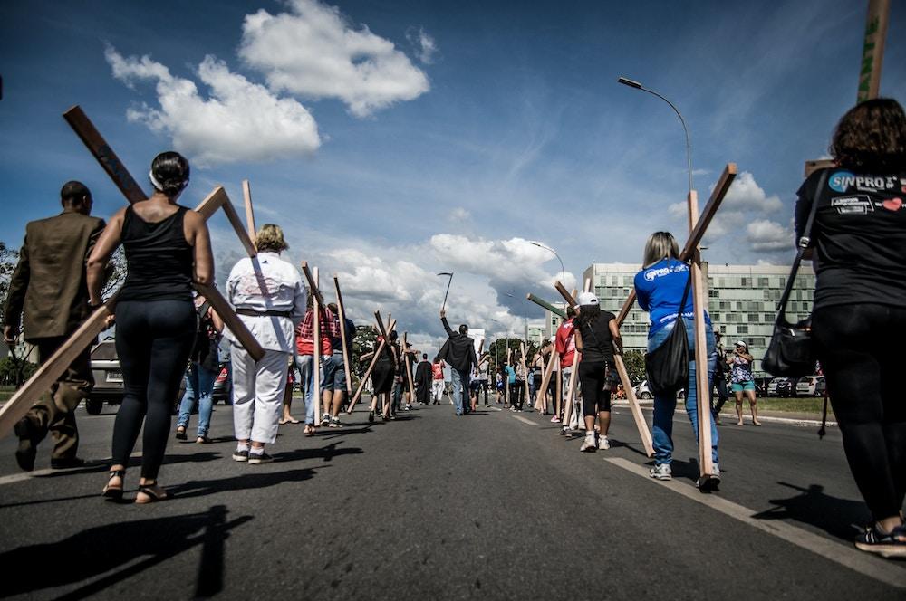 manifestação reforma trabalhista