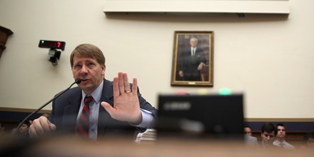 WASHINGTON, DC - SEPTEMBER 12:  Director of Consumer Financial Protection Bureau (CFPB) Richard Cordray testifies during a hearing before the House Financial Services Committee September 12, 2013 on Capitol Hill in Washington, DC. Chairman Jeb Hensarling (R-TX) blocked Cordray from delivering the CFPB's semi-annual report to the House until he was confirmed by the Senate in July, two years after President Barack Obama selected him.  (Photo by Alex Wong/Getty Images)