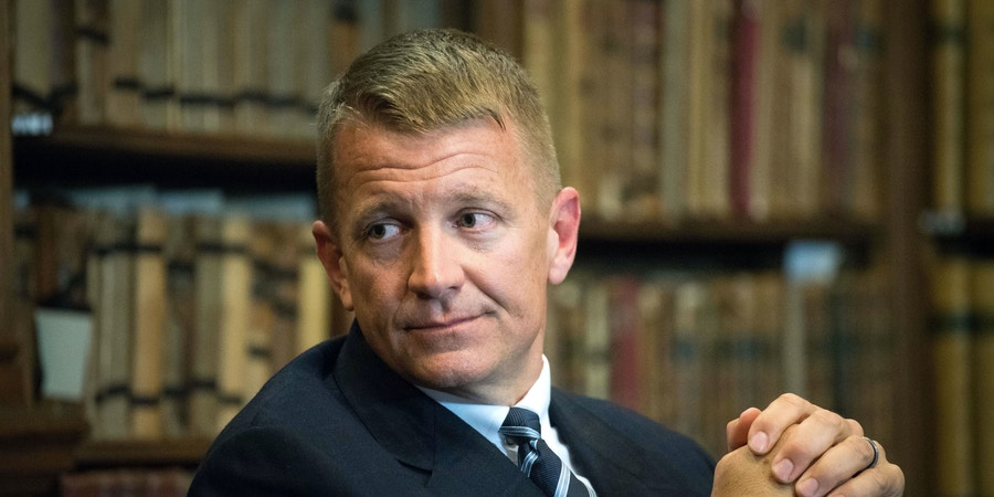Erik Prince Erik Prince at the Oxford Union, UK - 26 Apr 2017 (Rex Features via AP Images)