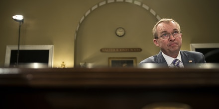 WASHINGTON, DC - MAY 24: Director of the Office of Management and Budget Mick Mulvaney testifies during a House Budget Committee hearing concerning the Trump administration's fiscal year 2018 budget, on Capitol Hill, May 24, 2017 in Washington, DC. Mulvaney defended President Trump's proposal to cut $3.6 trillion in federal spending over the next 10 years while increasing spending on defense and border security. (Photo by Drew Angerer/Getty Images)