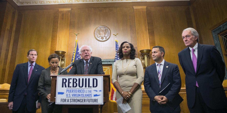 Resultado de imagen para Bernie Sanders puerto rico