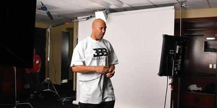 LOS ANGELES, CA - AUGUST 13:  LaVar Ball films a TV at the BIG3 at Staples Center on August 13, 2017 in Los Angeles, California.  (Photo by Jayne Kamin-Oncea/Getty Images)