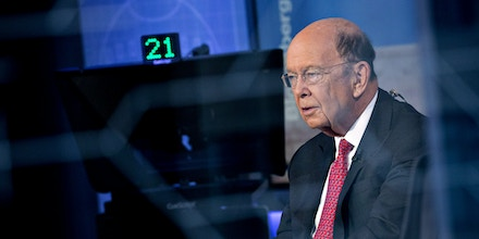 Wilbur Ross, U.S. commerce secretary, speaks during a Bloomberg Television interview in Washington, D.C., U.S., on Tuesday, Oct. 24, 2017. Ross discussed corporate rate cuts flow through benefits for the middle class. Photographer: Andrew Harrer/Bloomberg via Getty Images