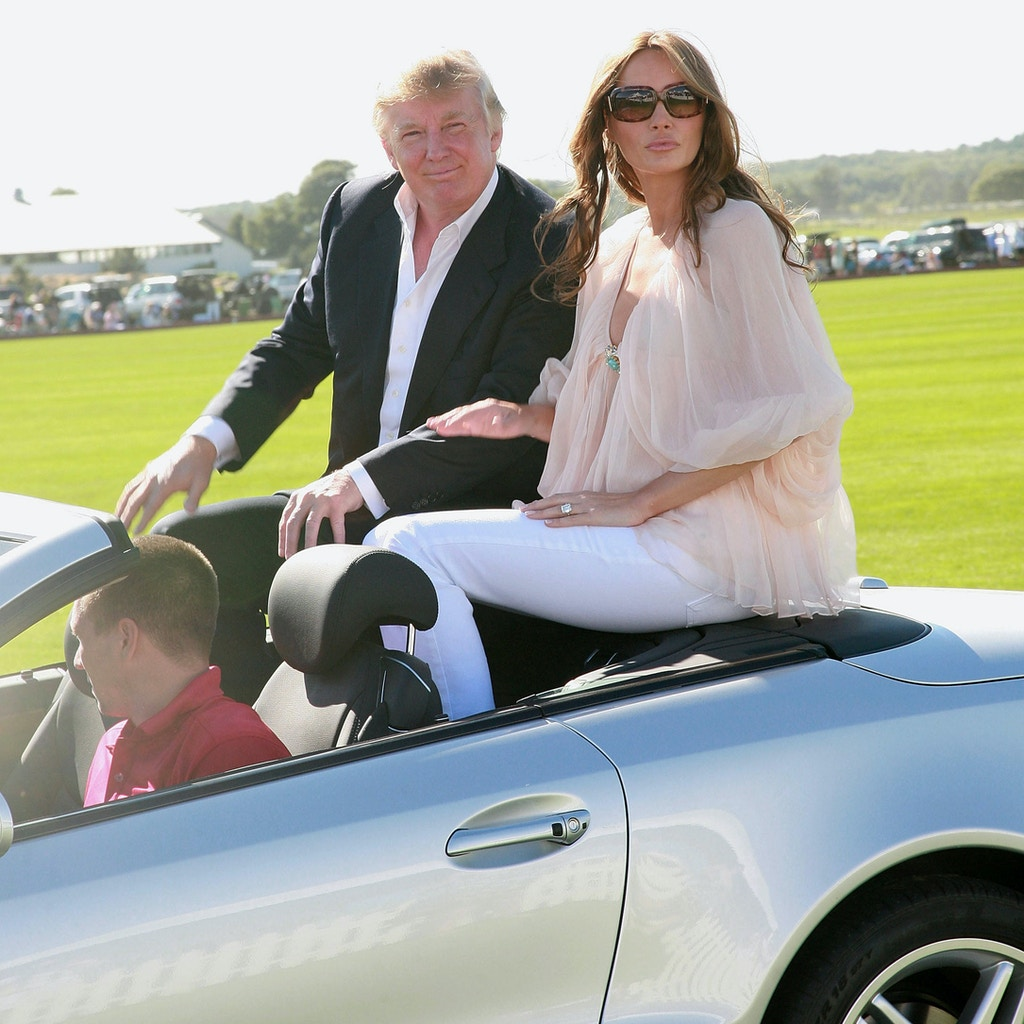 WATER MILL, NY - AUGUST 18:  Donald Trump and Model Melania Trump visit the Mercedes-Benz Bridgehampton Polo Challenge at the Bridgehampton Polo Club on August 18, 2007 in Water Mill, New York.  (Photo by Tana Lee Alves/WireImage)