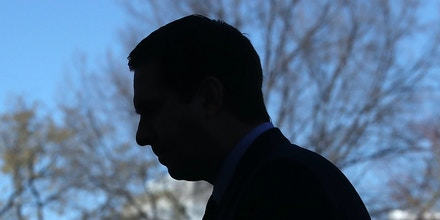 WASHINGTON, DC - MARCH 22:  House Intelligence Committee Chairman Devin Nunes (R-CA) walks away after speaking to reporters after a meeting at the White House March 22, 2017 in Washington, DC. Nunes said that he has seen reports from the U.S. intelligence agencies that show communication from members of President Trump's transition team and the president himself were incidentally collected.  (Photo by Mark Wilson/Getty Images)