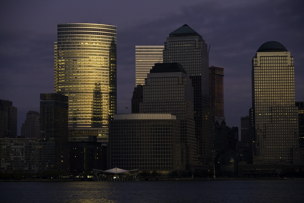 Goldman Sachs Building in lower Manhattan, at 200 West Street. (Photo by Timothy Fadek/Corbis via Getty Images)