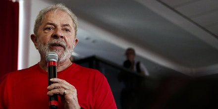 Former Brazilian president Luiz Inacio Lula da Silva speaks during a rally with supporters at the Metallurgical Union, in Sao Bernardo do Campo, Sao Paulo state, Brazil on January 24, 2018.An appeals court in Brazil convened Wednesday to issue a ruling critical to former president Luiz Inacio Lula da Silva's hopes of standing for election again this year. The three-judge panel is to rule on an appeal by the hugely popular leftist icon against a corruption conviction in Brazil's sprawling