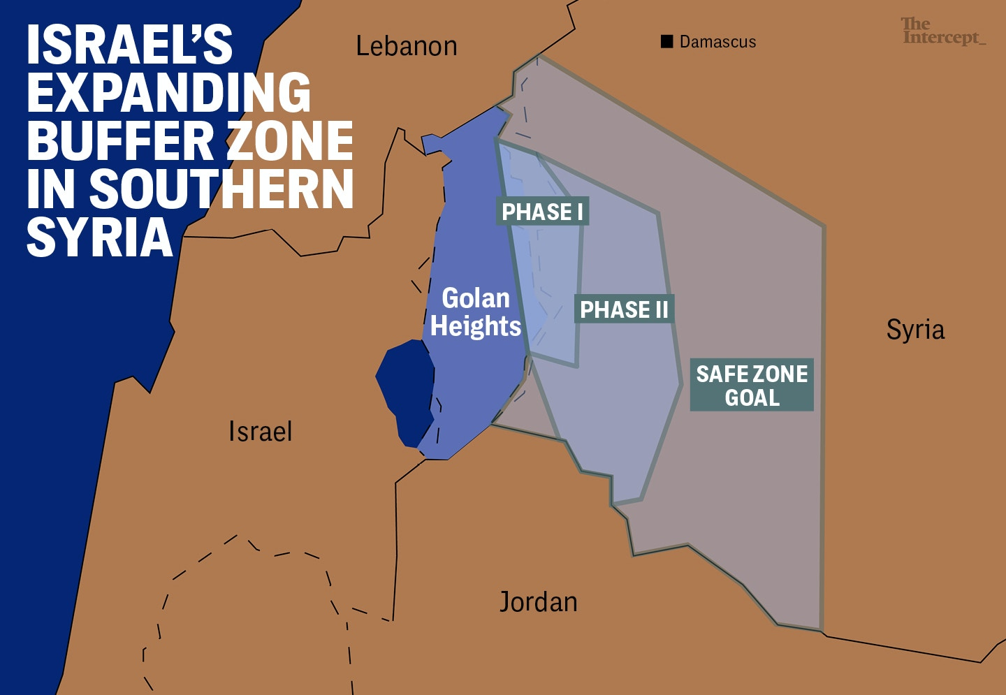 Israels safe zone is creeping farther into syria map golan heights 1515701836 gumiabroncs Images