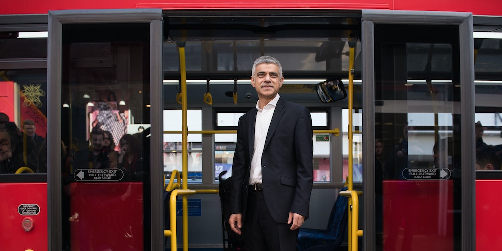 Sadiq Khan, the mayor of London, March 9, 2017. (John Nguyen/News Syndication/Redux)