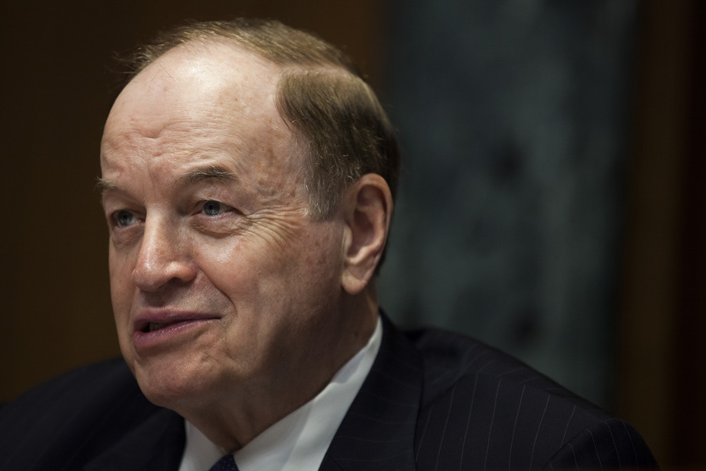 WASHINGTON, DC - JUNE 13: Sen. Richard Shelby (R-AL) (R-AL) speaks during a Senate Commerce, Justice, Science, and Related Agencies Subcommittee hearing on the Justice Department's proposed FY18 budget  on Capitol Hill on June 13, 2017 in Washington, D.C. (Photo by Zach Gibson/Getty Images)