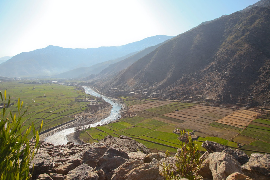 Overview of Watapur district, Kunar province, Afghanistan, Jan. 11, 2012.