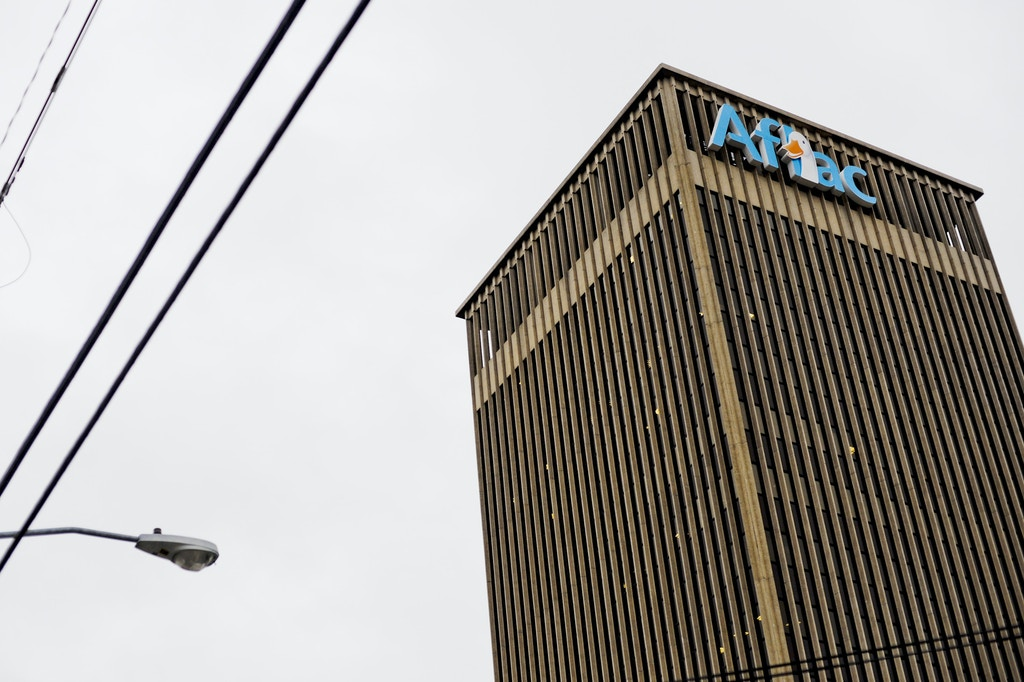 UNITED STATES - JANUARY 28:  The headquarters of Aflac Inc. stands in Columbus, Georgia, U.S., on Wednesday, Jan. 28,2009. Aflac Inc., the largest seller of supplemental coverage, gained 13 percent after Bank of America Corp. said the firm brings in enough cash from insurance operations to cushion investment losses.  (Photo by Chris Rank/Bloomberg via Getty Images)