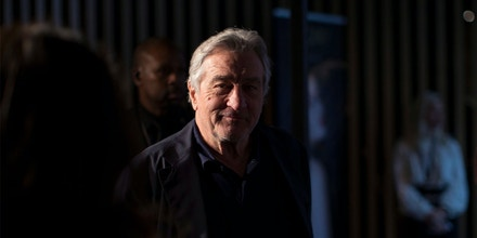 Actor Robert De Niro arrives at a press event in Toronto to publicize Nobu Toronto, which is marketed as the first intergrated Nobu Residences, Nobu Hotel and Nobu Restaurant, on Tuesday, May 30, 2017. (Chris Young/The Canadian Press via AP)