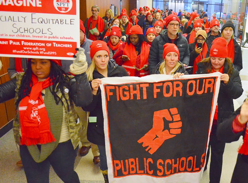 Image result for pics of american federation of teachers left wing activism