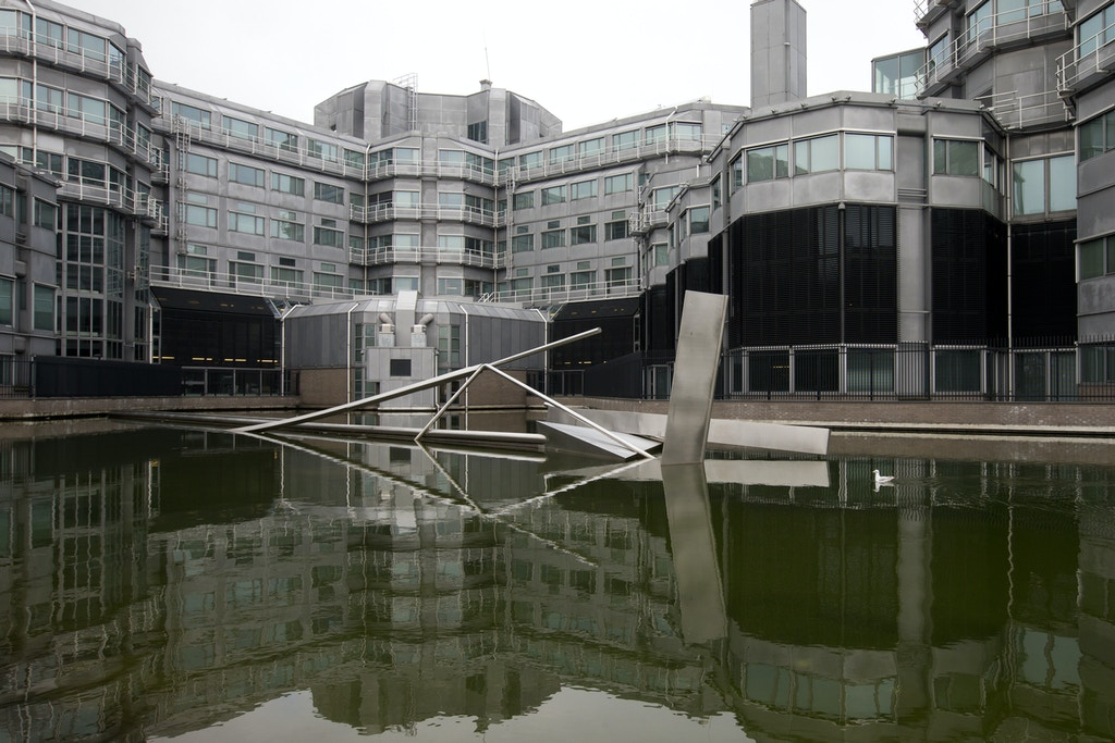 Exterior view of the building complex which houses the Dutch General Intelligence and Security Service in Zoetermeer, Netherlands, Friday, Jan. 26, 2018. The Netherlands' spy services AIVD and MIVD broke into the computers used by a powerful Russian hacking group and may be sitting on evidence relating to the breach of the U.S. Democratic National Committee, a Dutch newspaper and television show jointly reported Friday. (AP Photo/Peter Dejong)