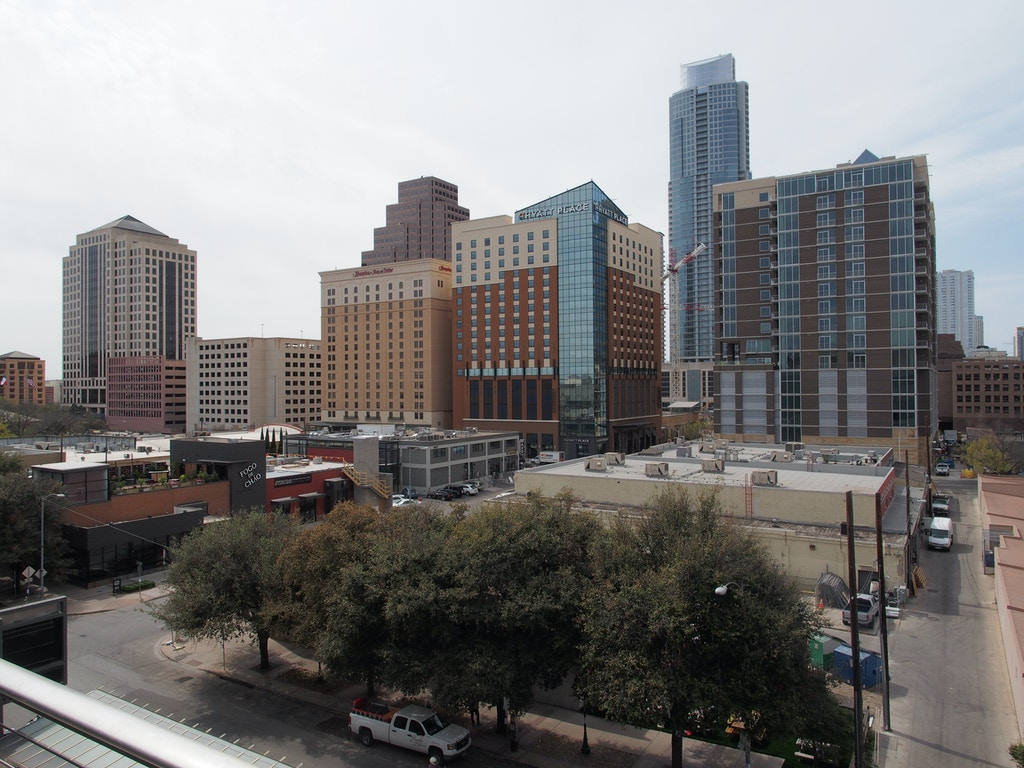 General view of downtown Austin, Texas from the balcony of the Austin Convention Center on Thursday March 7, 2012 on the eve of the opening of the 27th South By Southwest (SXSW) interactive, film and music festival.  The 10-day event is a magnet for thousands of technology innovators, independent film-makers and up-and-coming musical performers.  AFP PHOTO / Robert MacPherson        (Photo credit should read Robert MacPherson/AFP/Getty Images)