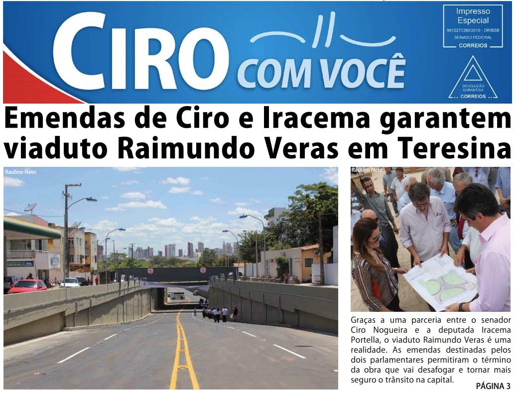 Capa de informativo do mandato do senador Ciro Nogueira