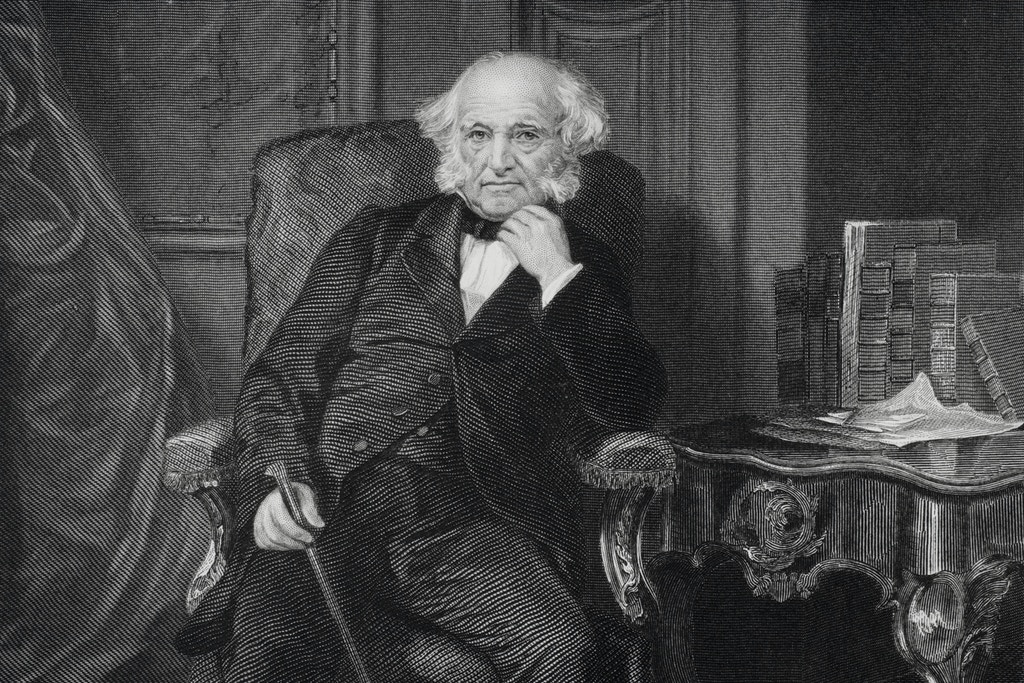 UNSPECIFIED - CIRCA 1800: Martin Van Buren 1782 to 1862. 8th president of the United States 1837to 1841 and a founder of the Democratic Party. From painting by Alonzo Chappel (Photo by Universal History Archive/Getty Images)