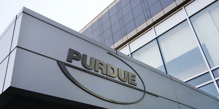 FILE - This Tuesday, May 8, 2007 file photo shows the Purdue Pharma offices in Stamford, Conn. In 2007, the company pleaded guilty and agreed to pay more than $600 million in fines for misleading the public about the risks of OxyContin. But the drug continued to rack up blockbuster sales. (AP Photo/Douglas Healey, File)