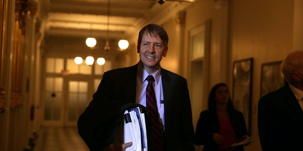 WASHINGTON, DC - NOVEMBER 16:  Consumer Financial Protection Bureau Director Richard Cordray arrives at a meeting of the Financial Stability Oversight Council November 16, 2016 at the Treasury Department in Washington, DC. The council held a meeting