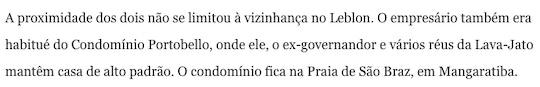 Trecho de reportagem de O Globo