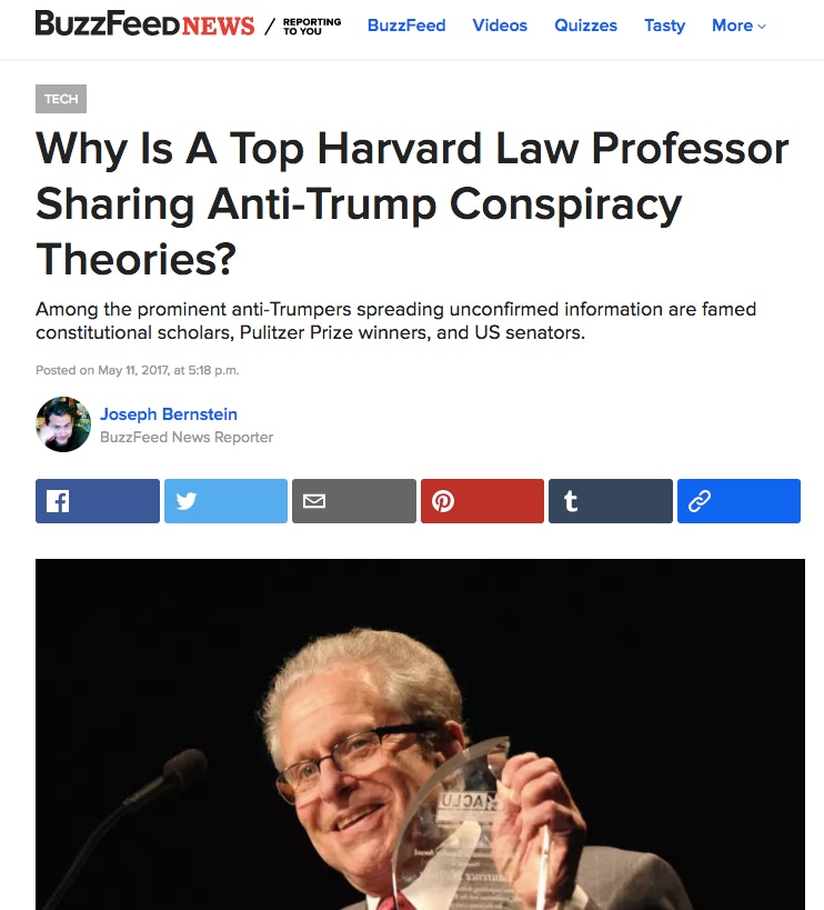 Laurence Tribe, Russia Conspiracist, Has His Most Humiliating Debacle