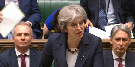 Prime Minister's Questions. Prime Minister Theresa May speaks during Prime Minister's Questions in the House of Commons, London. Picture date: Wednesday March 14, 2018. See PA story POLITICS PMQs May. Photo credit should read: PA Wire URN:35516877
