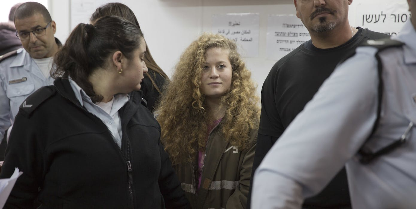 Image result for Ahed Tamimi was jailed with her mother on 24 March 2018   images