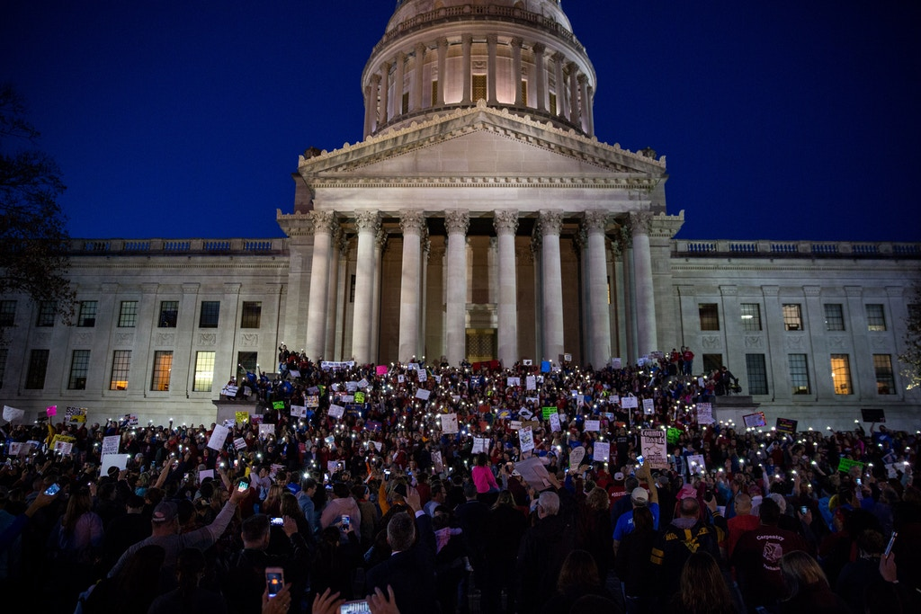 Hundreds of school workers and students flooded the steps of the West Virginia capitol last Tuesday during a teacher strike that closed schools across the state for nine days.