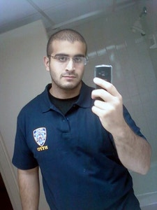 Undated photo or selfie of Omar Mateen, identified as the gunman in mass shooting at a gay club in Orlando, Florida on June 12, 2016. The shooting death toll rose to 50 with a further 53 wounded. Photo Balkis Press/Sipa USA