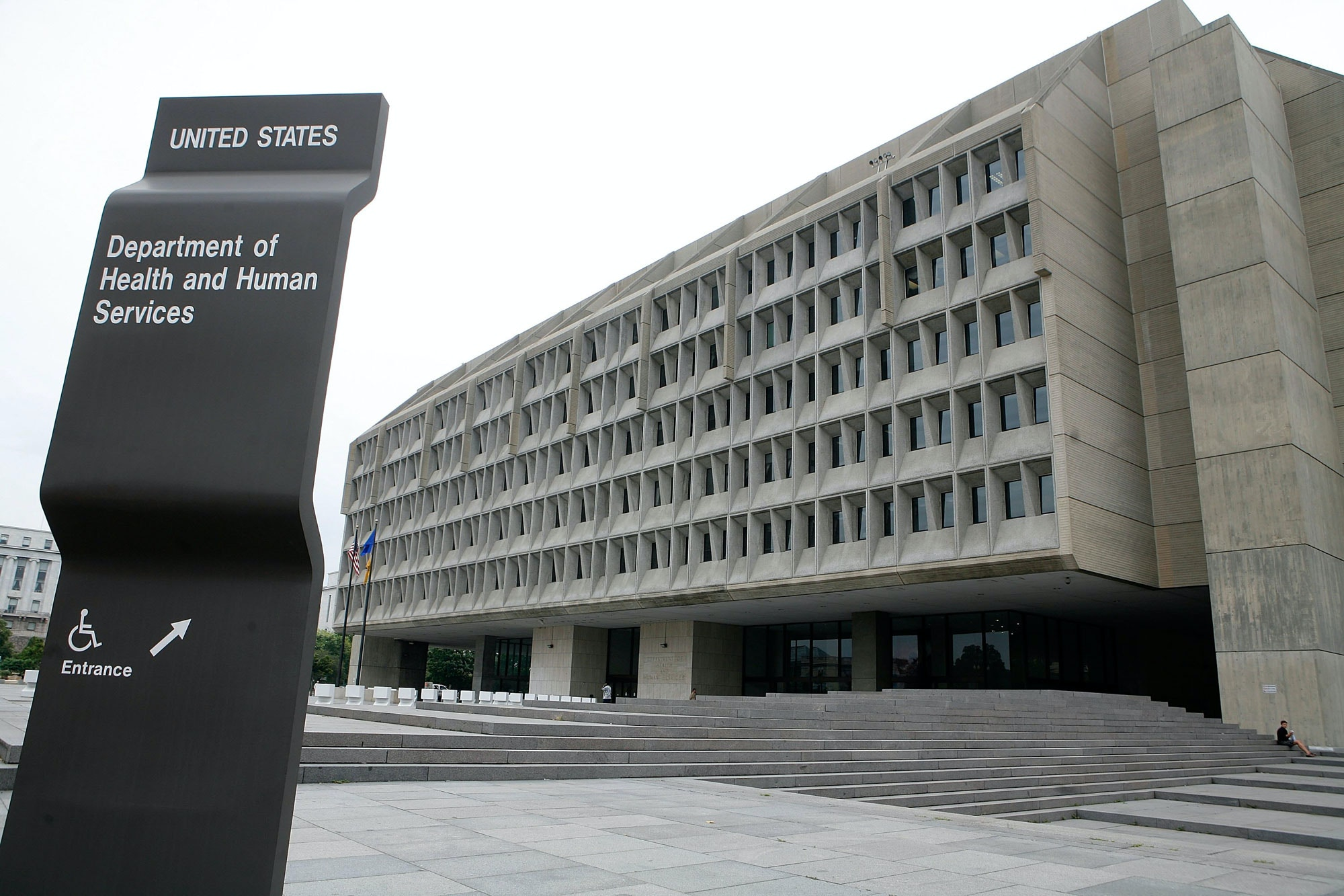 WASHINGTON - AUGUST 15:  The exterior of the U.S. Department of Health and Human Services is seen August 15, 2006 in Washington, DC.   (Photo by Alex Wong/Getty Images)