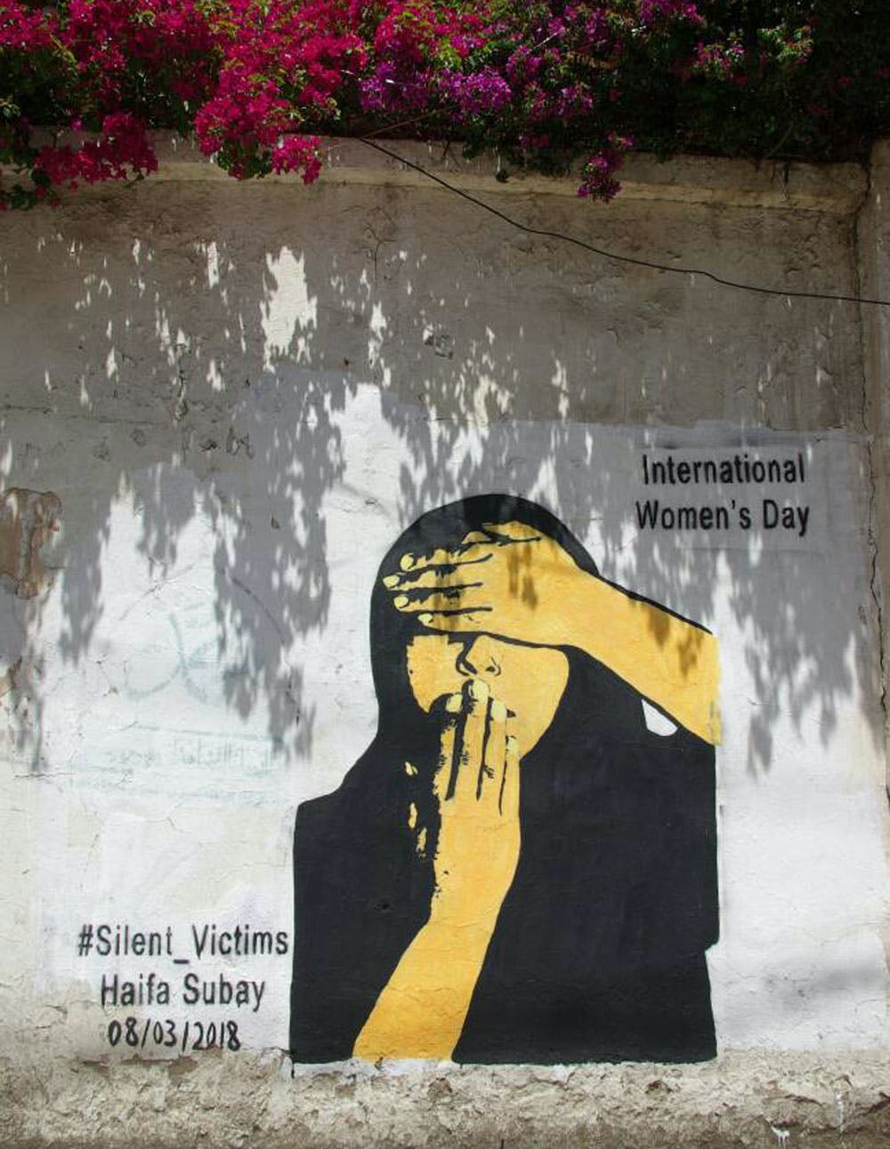 A mural by street artist Haifa Subay in Sana'a, Yemen, celebrates International Women's Day. Photo: Haifa Subay