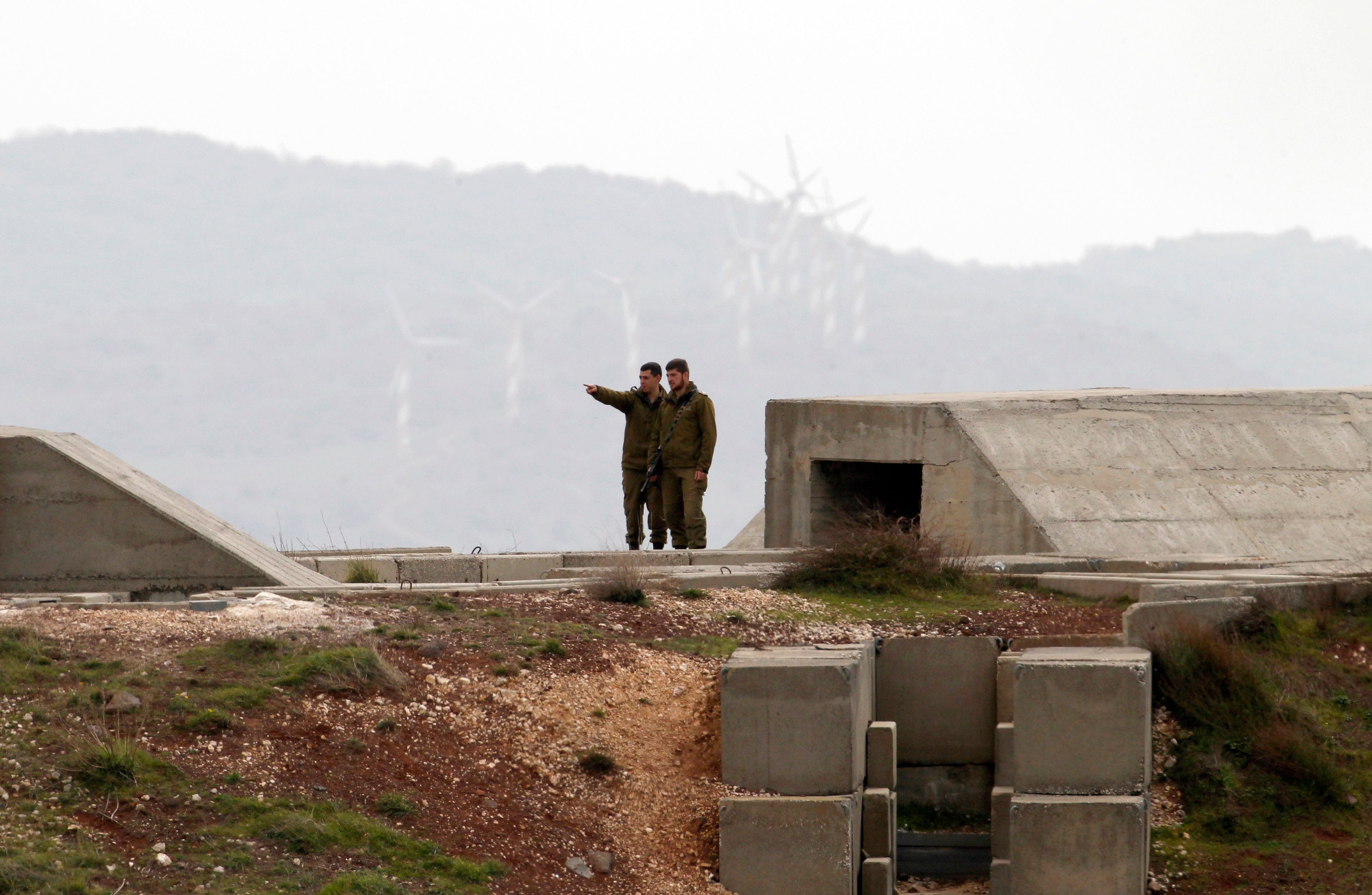 A picture taken on February 11, 2018 shows an Israeli soldiers deployed in the Israeli-annexed Golan Heights near the border with Syria.Israel issued stark warnings on Sunday over Iran's presence in neighbouring Syria after a confrontation threatened to open a new and unpredictable period in the country's seven-year civil war. / AFP PHOTO / JALAA MAREY (Photo credit should read JALAA MAREY/AFP/Getty Images)