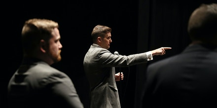 GAINESVILLE, FL - OCTOBER 19:  White nationalist Richard Spencer, who popularized the term