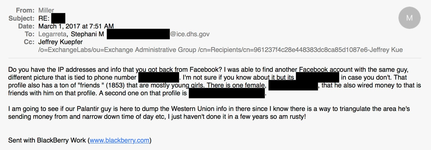 ICE Used Private Facebook Data to Find and Track Criminal