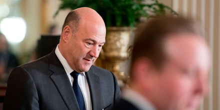 Trump's chief economic adviser Gary Cohn (L) arrives for a joint press conference with US President Donald Trump and Prime Minister Erna Solberg of Norway at the White House in Washington, DC, on January 10, 2018. / AFP PHOTO / JIM WATSON        (Photo credit should read JIM WATSON/AFP/Getty Images)