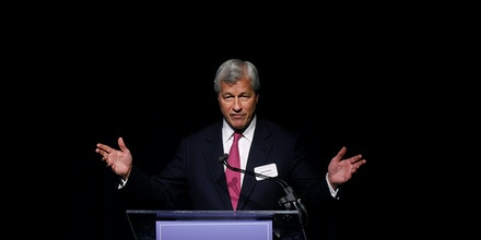 DETROIT, MI - MAY 21: JP Morgan Chase CEO Jamie Dimon speaks during a luncheon May 21, 2014 in Detroit, Michigan. Dimon announced that JP Morgan Chase will invest $100-million to help the city of Detroit with blight removal, urban development, home loans and retraining people in the work force. (Photo by Joshua Lott/Getty Images)