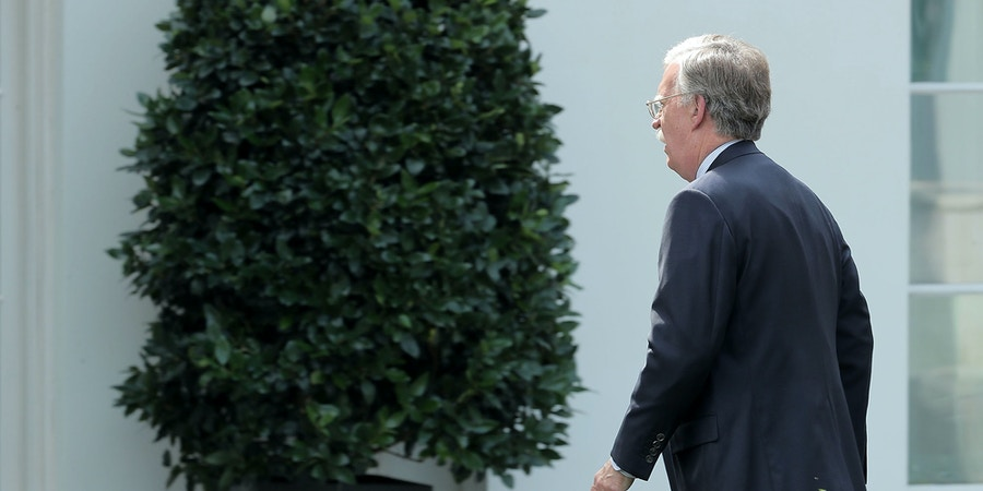 WASHINGTON, DC - OCTOBER 10:  Former U.S. ambassador to the United Nations John Bolton arrives at the White House October 10, 2017 in Washington, DC. In a Forbes interview published Tuesday, President Donald Trump said reports that  Secretary of State Rex Tillerson called him a