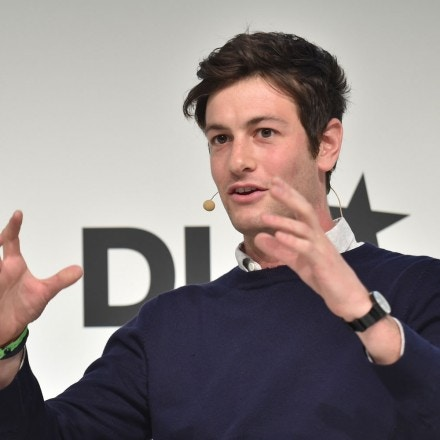 MUNICH/GERMANY - JANUARY 19: Joshua Kushner (Thrive Capital) gestures on the podium during the DLD15 (Digital-Life-Design) Conference at the HVB Forum on January 19, 2015 in Munich, Germany. DLD is a global network of innovation, digitization, science and culture, which connects business, creative and social leaders, opinion formers and influencers for crossover conversation and inspiration.(Photo: picture alliance / Kai-Uwe Wärner)(Photo: picture alliance / Kai-Uwe Wärner)/picture alliance Photo by: Kai-Uwe Wärner/picture-alliance/dpa/AP Images