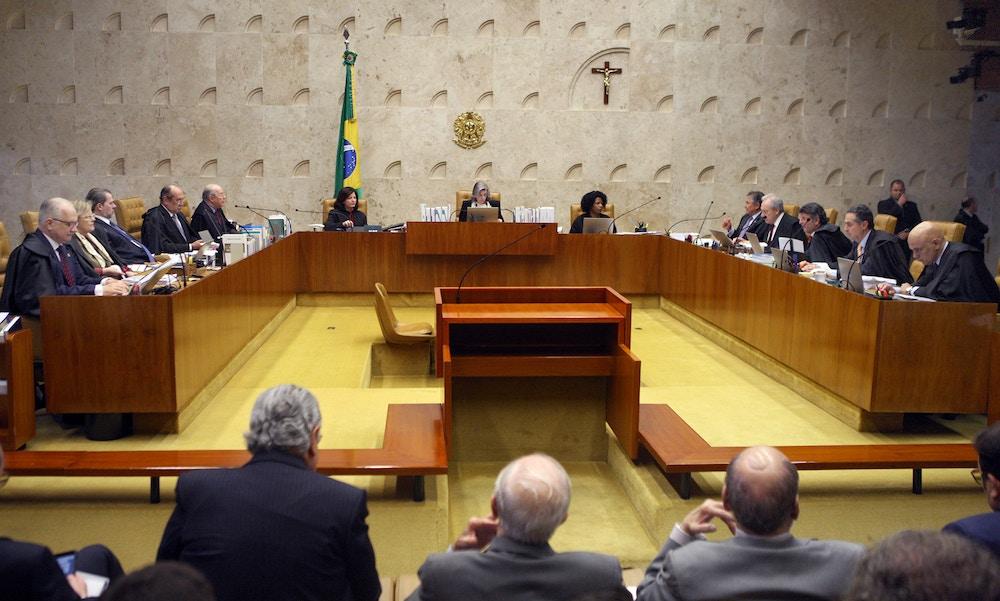 Sessão do Supremo Tribunal Federal realizada no dia 22 de março