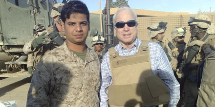 During McCain's visit to Iraq in 2008, Ali translated during the then-Presidential candidate's visit to Haditha in al-Anbar Province.