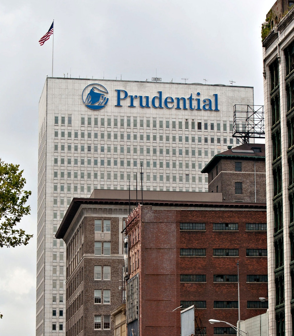 The headquarters building of Prudential Financial Inc. stands in Newark, New Jersey, U.S., on Thursday, July 29, 2010. New York Attorney General Andrew Cuomo began a fraud probe into the life insurance industry and subpoenaed MetLife Inc. and Prudential Financial Inc. for information about profits on death benefits retained from the families of deceased policyholders including military personnel. Photographer: Emile Wamsteker/Bloomberg via Getty Images