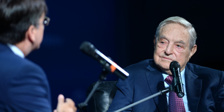 NEW YORK, NY - SEPTEMBER 20:  Founder and Chair, Soros Fund Management and the Open Society Foundations George Soros attends 2016 Concordia Summit - Day 2 at Grand Hyatt New York on September 20, 2016 in New York City.  (Photo by Riccardo Savi/Getty Images for Concordia Summit)