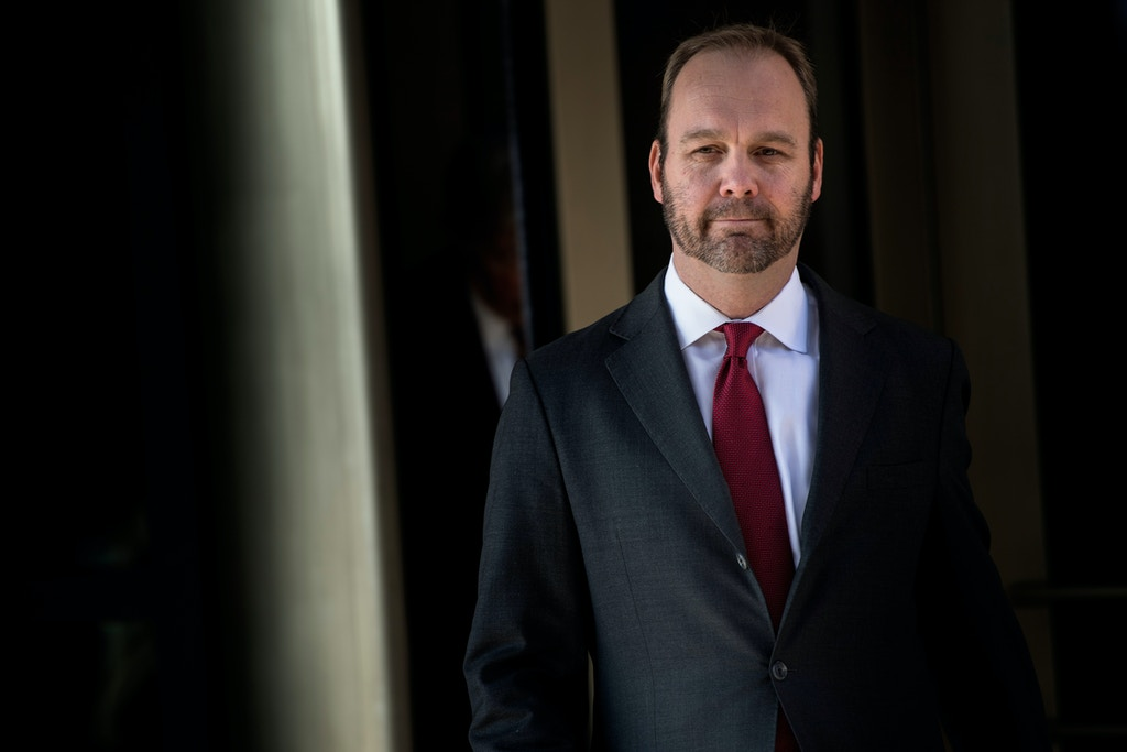 Former Trump campaign official Rick Gates leaves Federal Court on December 11, 2017 in Washington, DC.<br /><br /><br /><br /> In October, Trump's one-time campaign chairman Paul Manafort and his deputy Rick Gates were arrested on money laundering and tax-related charges. / AFP PHOTO / Brendan Smialowski        (Photo credit should read BRENDAN SMIALOWSKI/AFP/Getty Images)