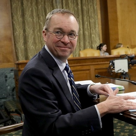 WASHINGTON, DC - FEBRUARY 13:  Office of Management and Budget Director Mick Mulvaney awaits the start of a hearing held by the Senate Budget Committee February 13, 2018 in Washington, DC. Mulvaney testified on U.S. President Donald Trump's fiscal year 2019 budget proposal that was released yesterday. (Photo by Win McNamee/Getty Images)