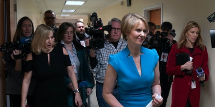 Cynthia Nixon meets with people at the Bethesda Healing Center on March 20, 2018 in Brooklyn, New York at her first event since announcing that shes running for governor of New York.Cynthia Nixon, the US actress who shot to fame as workaholic lawyer Miranda on