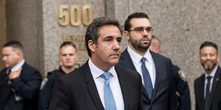 NEW YORK, NY - APRIL 16: Michael Cohen, longtime personal lawyer and confidante for President Donald Trump, exits the  United States District Court Southern District of New York, April 16, 2018 in New York City.  Cohen and lawyers representing President Trump are asking the court to block Justice Department officials from reading documents and materials related to Cohen's relationship with President Trump that they believe should be protected by attorney-client privilege. Officials with the FBI, armed with a search warrant, raided Cohen's office and two private residences last week.  (Photo by Drew Angerer/Getty Images)