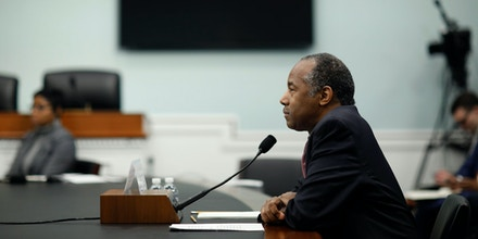 WASHINGTON, DC - MARCH 20: Secretary of Housing and Urban Development Ben Carson testifies before the Subcommittee on Transportation, Housing and Urban Development, and Related Agencies on Capitol Hill March 20, 2018 in Washington, DC. Secretary Carson has drawn fire from lawmakers for purchasing furniture for his office suite despite agency cutbacks. (Photo by Aaron P. Bernstein/Getty Images)