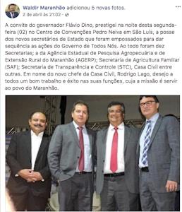 Waldir Maranhão participa de evento com Flávio Dino