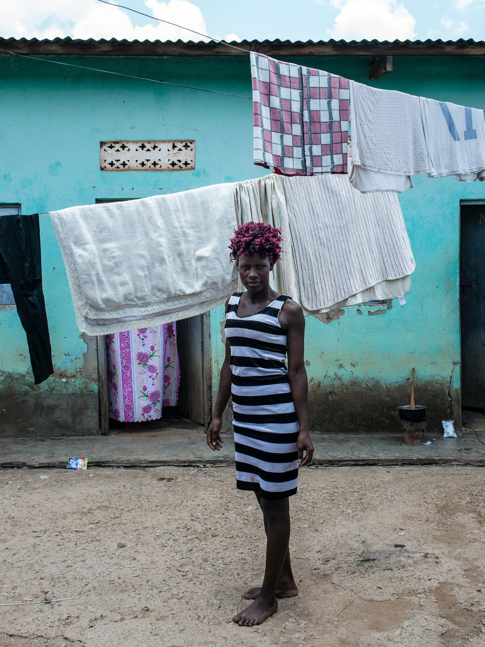 Tracy Atim, a sex worker who says family planning is important on March 27, 2018 in Karuma, Uganda.